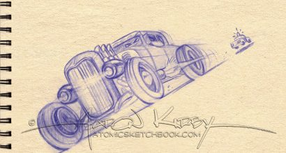 Model A sketch by Aaron Kirby