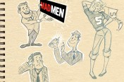 Mid Century Mad Men illustration by Aaron Kirby