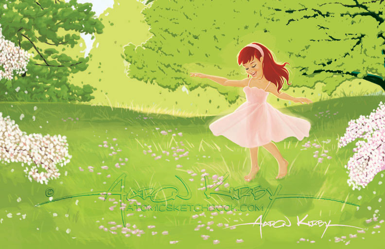 book illo (Spring Days by Aaron Kirby)
