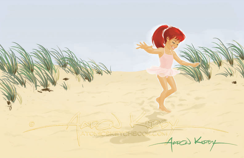 book illo (Summer Days by Aaron Kirby)