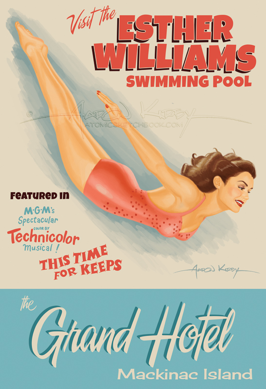 Esther Williams Swimming Pool - Atomic Sketchbook